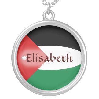 ヨルダンの旗 + 一流のネックレス シルバープレートネックレス