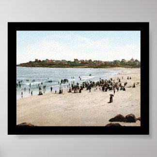 ヨークのビーチ、メイン1901年 ポスター