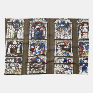 ヨークの牧師の素晴らしい東の窓 キッチンタオル