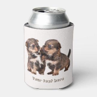 ヨークシャのかわいい子犬 缶クーラー