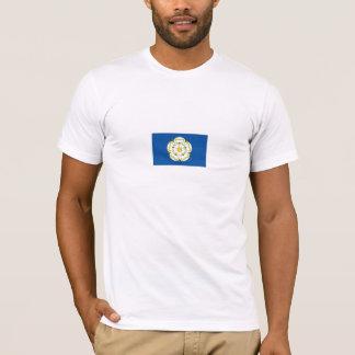 ヨークシャの旗のTシャツ、ヨークシャのTシャツの旗、 Tシャツ