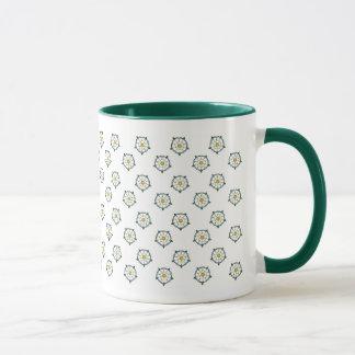 ヨークシャの白いバラのマグ マグカップ