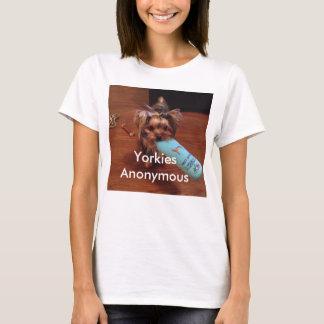 ヨークシャテリアのテーマのTシャツ Tシャツ