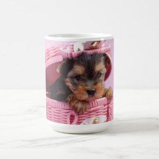 ヨークシャテリアの子犬 コーヒーマグカップ