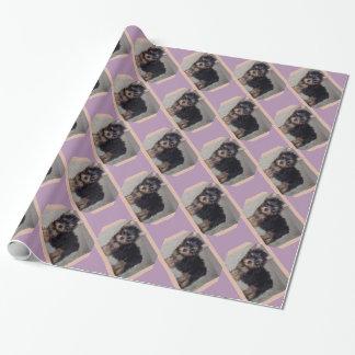ヨークシャテリアの子犬 包み紙