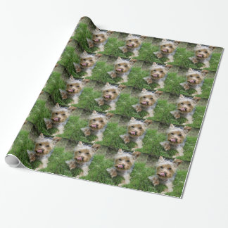 """ヨークシャテリアの子犬- """"jjheleneデザイン"""" 包装紙"""