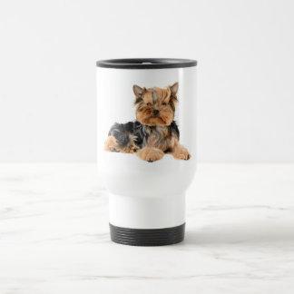 ヨークシャテリアの小犬-愛ヨークシャーテリア旅行 トラベルマグ