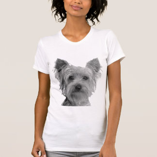 ヨークシャテリアの様式化されたイメージ Tシャツ