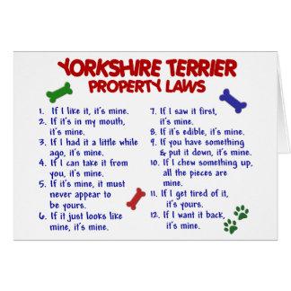 ヨークシャテリアの特性の法律2のヨークシャーテリア カード