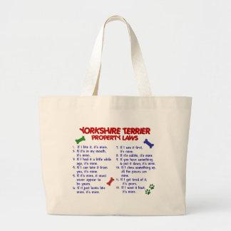 ヨークシャテリアの特性の法律2のヨークシャーテリア ラージトートバッグ