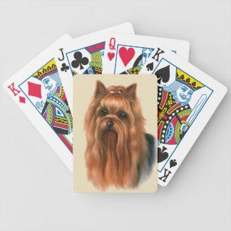 ヨークシャテリア犬のトランプ バイスクルトランプ