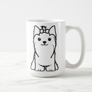 ヨークシャテリア犬の漫画 コーヒーマグカップ
