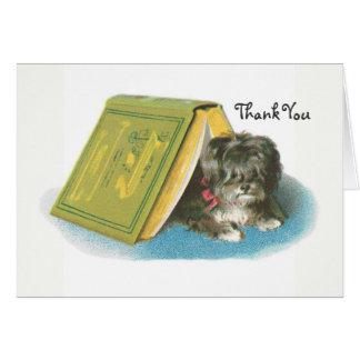 -ヨークシャテリア-ヨークシャーテリア-本ありがとう カード