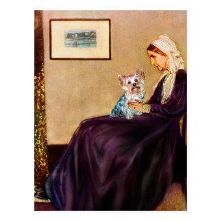 ヨークシャテリア(t) -ホイスラーの母 ポストカード