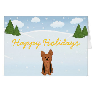 ヨークシャーテリアのクリスマスカード カード