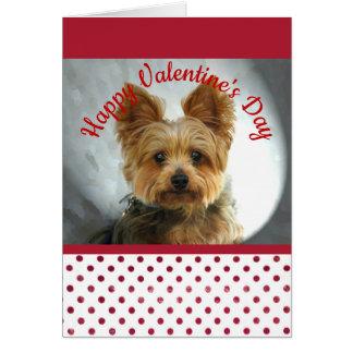 ヨークシャーテリアのバレンタイン カード