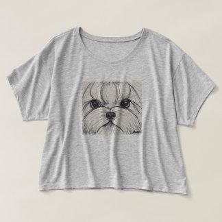 ヨークシャーテリアのヨークシャテリアのボックス型のTシャツ Tシャツ
