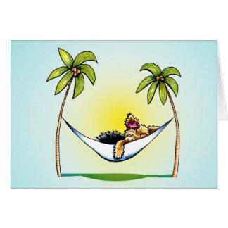 ヨークシャーテリアの島のプリンセスの以外鎖Art™は感謝していしています カード