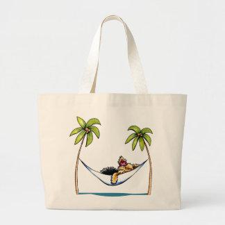 ヨークシャーテリアの島のプリンセスの以外鎖Art™ ラージトートバッグ