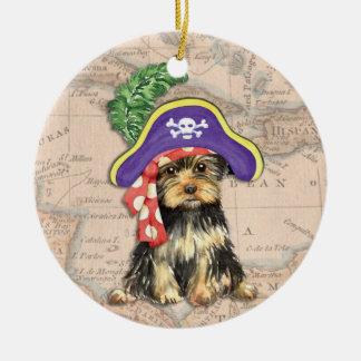 ヨークシャーテリアの海賊 セラミックオーナメント