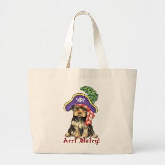 ヨークシャーテリアの海賊 ラージトートバッグ