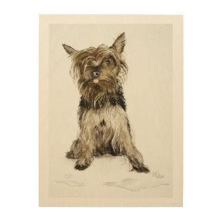 ヨークシャーテリアの絵画 ウッドウォールアート