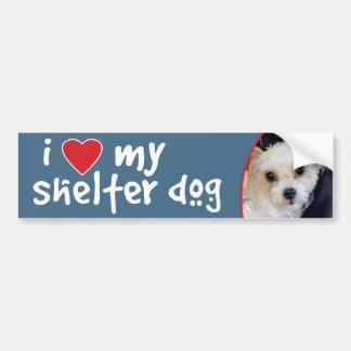 ヨークシャーテリアまたはシーズー(犬)のTzuのバンパーステッカーかデカール バンパーステッカー