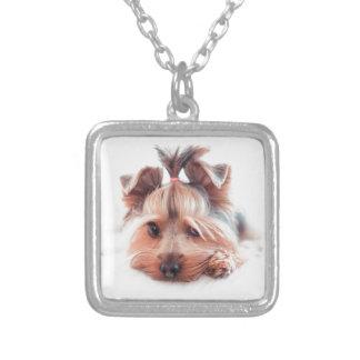 ヨークシャーテリア犬愛ヨークシャーテリアのヨークシャテリア シルバープレートネックレス