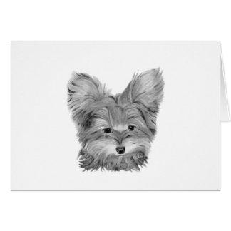 ヨークシャーテリア犬、カスタマイズ可能な挨拶状 カード