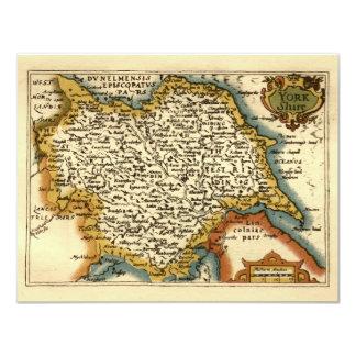 ヨークシャ郡地図、イギリス カード