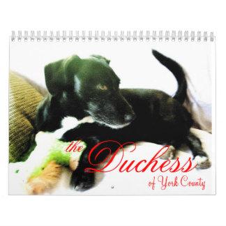 ヨーク郡の公爵夫人 カレンダー