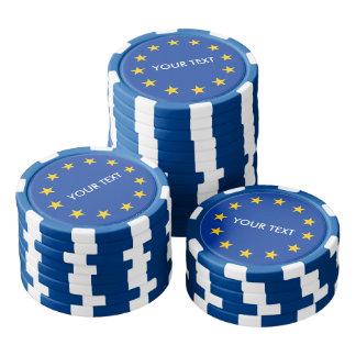 ヨーロッパのためのカスタムな欧州連合の旗のポーカー用のチップ ポーカーチップ