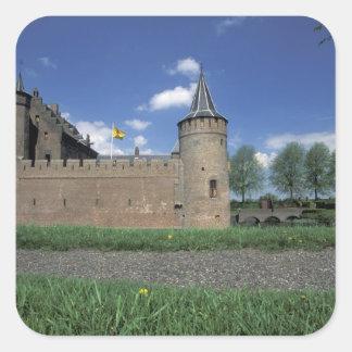 ヨーロッパのオランダ、Muiden Muidenの城 スクエアシール