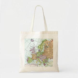 ヨーロッパのカラフルのパステルのヴィンテージの地図 トートバッグ
