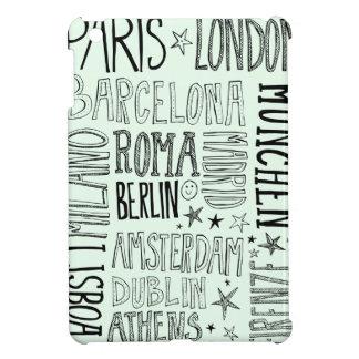 ヨーロッパのシックでモダンなタイポグラフィ都市ギフトの都市 iPad MINIケース