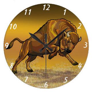 ヨーロッパのバイソン ラージ壁時計