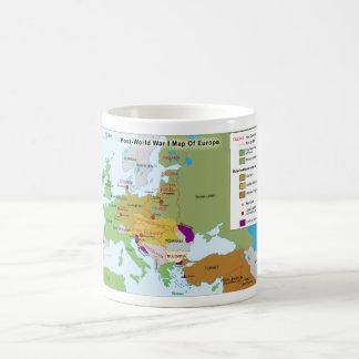 ヨーロッパのポストの第1次世界大戦の地図 コーヒーマグカップ