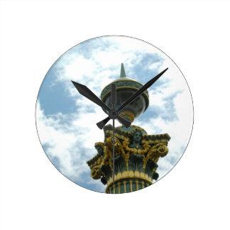 ヨーロッパのヴィンテージの詳しい柱 ラウンド壁時計