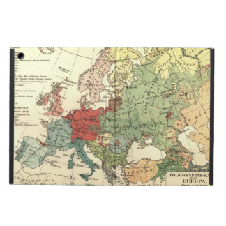 ヨーロッパの地図の国の世界のヴィンテージ iPad AIRケース