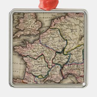 ヨーロッパの地図書の地図 メタルオーナメント