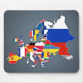 ヨーロッパの地図 の国旗 マウスパッド