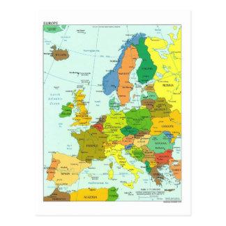 ヨーロッパの地図 ポストカード