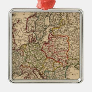 ヨーロッパの地図 メタルオーナメント