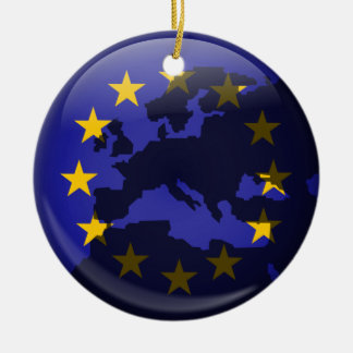 ヨーロッパの地球 セラミックオーナメント