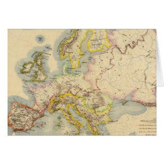 ヨーロッパの山岳の地図 カード