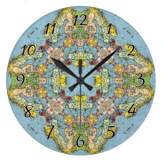 ヨーロッパの抽象的な地図 ラージ壁時計
