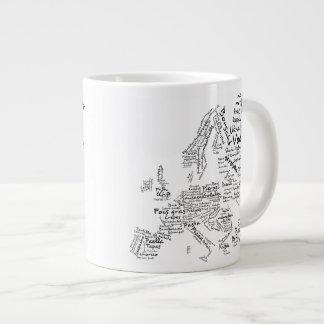 ヨーロッパの料理の食糧地図 ジャンボコーヒーマグカップ
