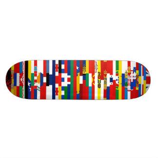 ヨーロッパの旗のスケートボード 18.1CM オールドスクールスケートボードデッキ