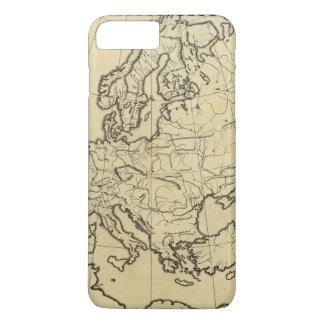 ヨーロッパの輪郭の地図 iPhone 8 PLUS/7 PLUSケース