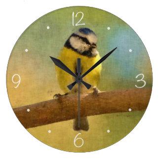 ヨーロッパのbluetitのデジタル絵画 ラージ壁時計